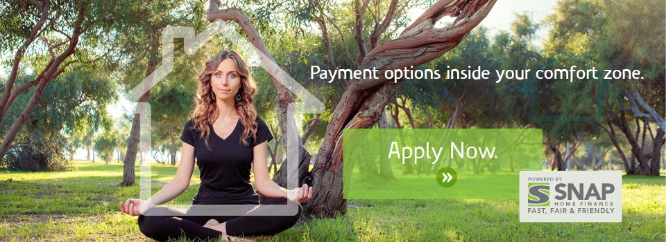 Payment options inside your comfort zone - apply now